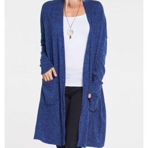 Sweaters - Plus size royal blue cardigan